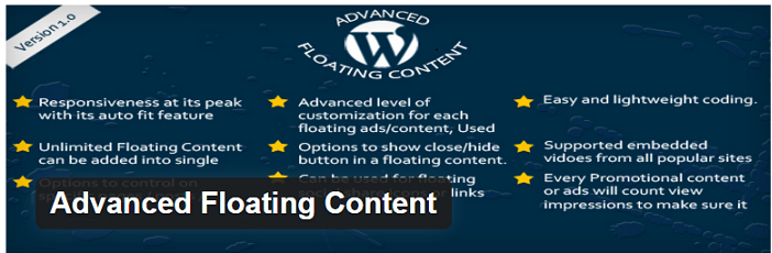 آموزش افزونه Advanced Floating Content برای ساخت محتوای شناور در وردپرس