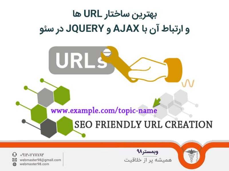 بهترین ساختار URL ها و ارتباط آن با AJAX و JQUERY در سئو
