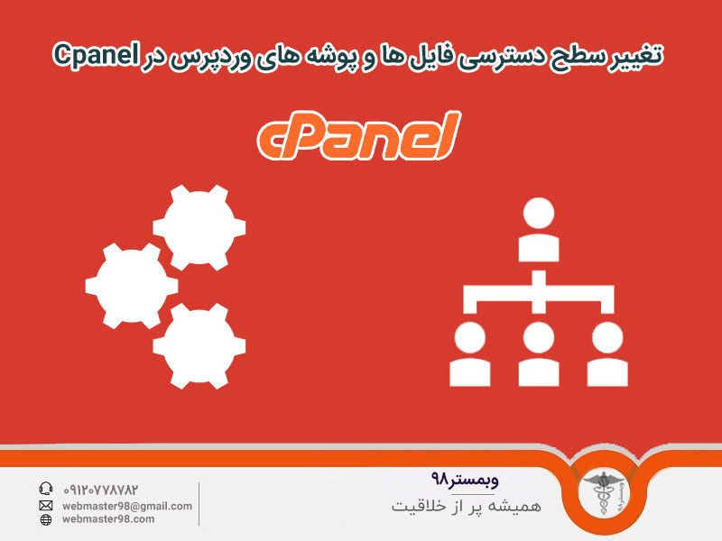 تغییر سطح دسترسی فایل ها و پوشه های وردپرس در Cpanel