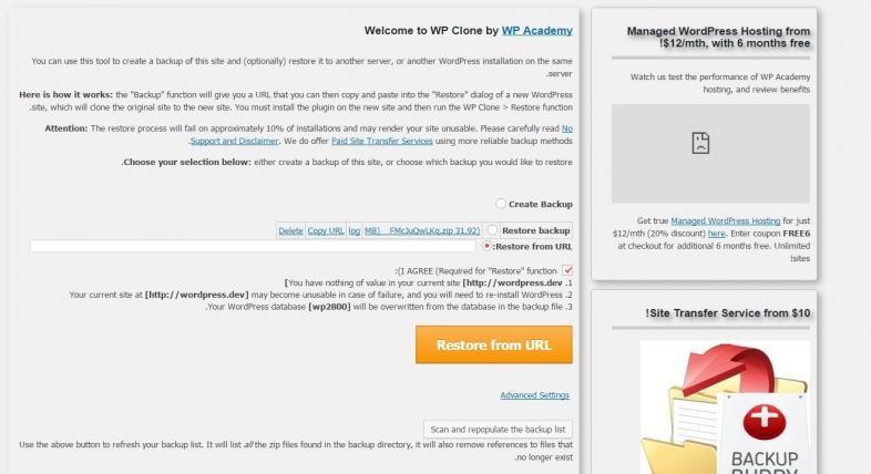 انتقال وردپرس به هاست یا دامنه ای دیگر توسط Wp Clone