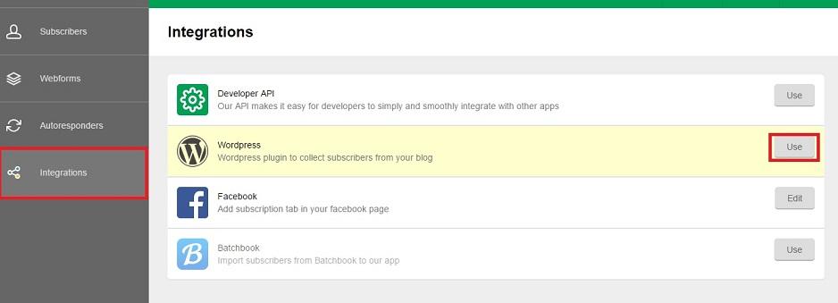 دریافت API key