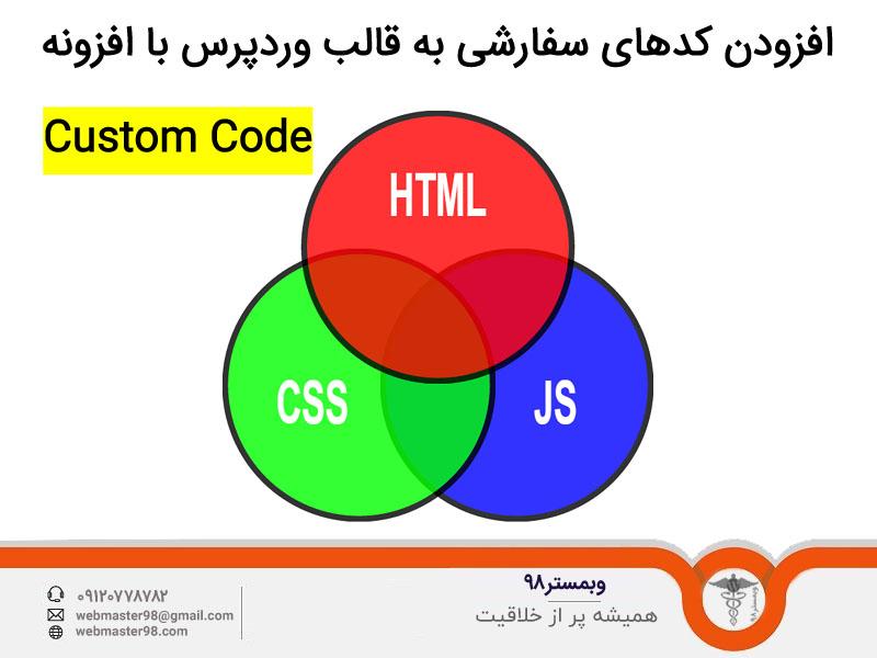 آموزش افزونه Custom Code برای افزودن کدهای سفارشی به قالب وردپرس