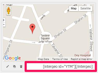 شورت کد نمایش نقشه گوگل در وردپرس