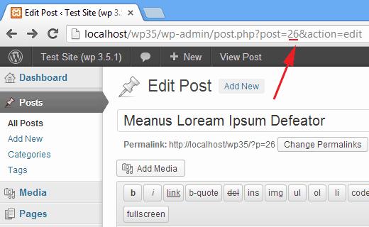 روش یافتن id مطالب در وردپرس