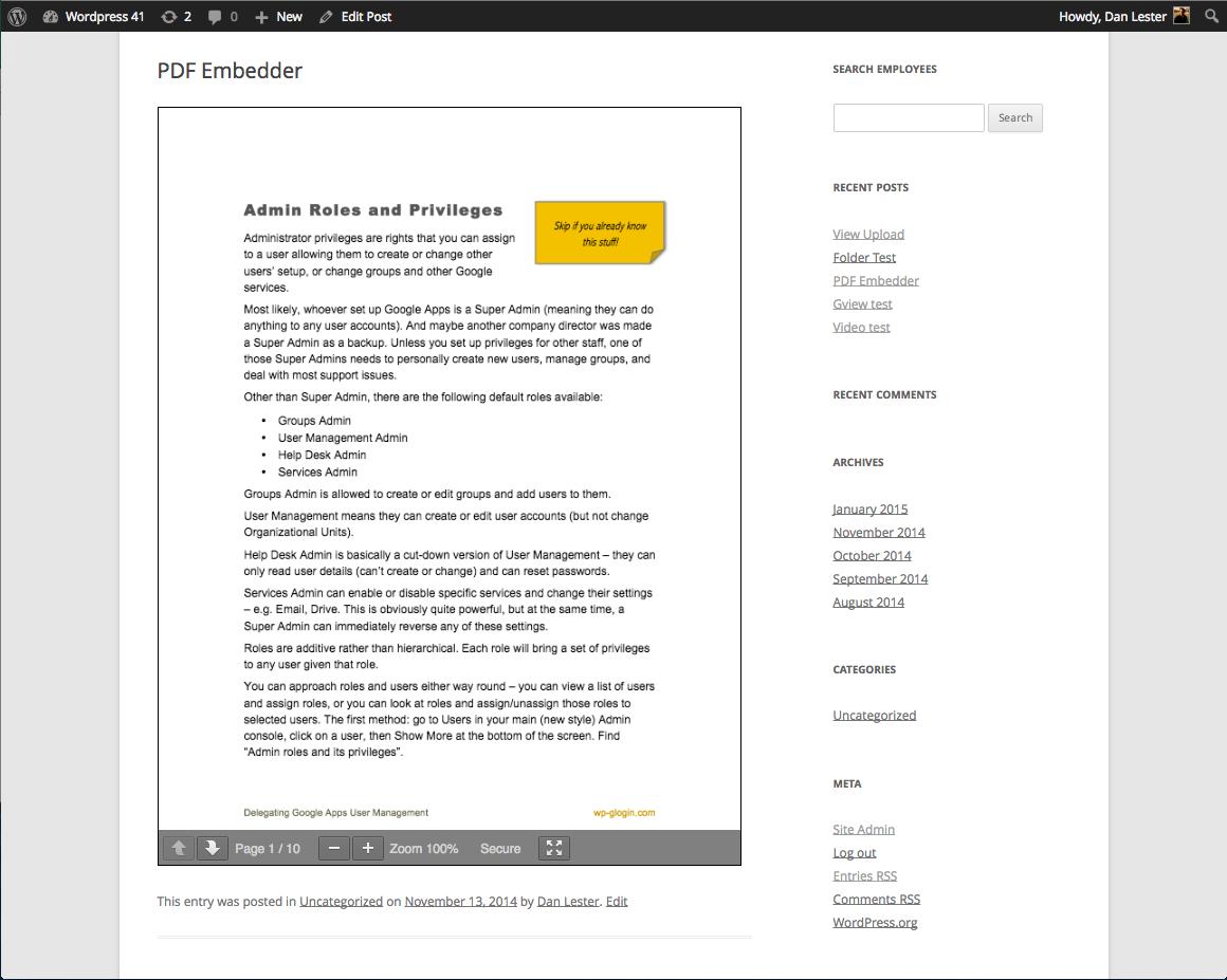 نمایش فایل های pdf در وردپرس