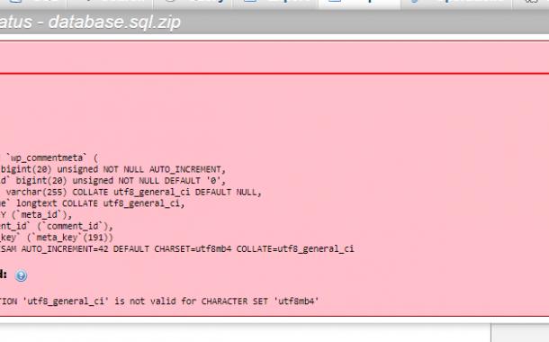 رفع مشکل Unknown collation: utf8mb4_unicode_520_ci در phpmyadmin