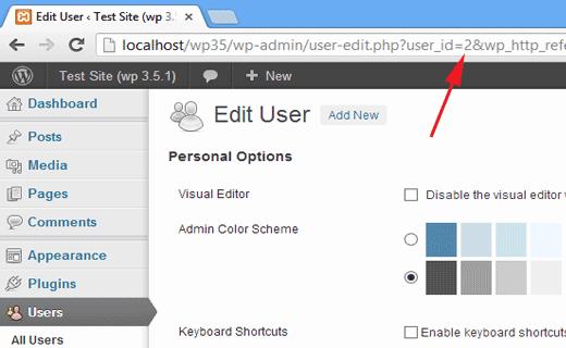 روش پیدا کردن id کاربران در وردپرس