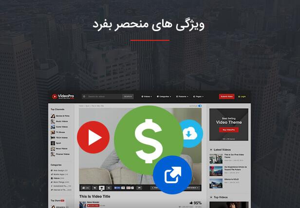 امکان پرداخت هزینه بابت عضویت در سایت با قالب videopro