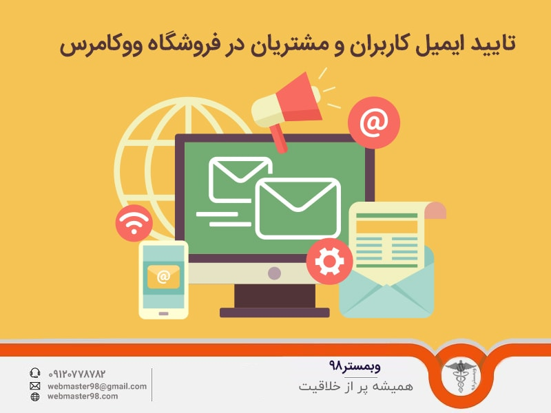تایید ایمیل کاربران و مشتریان در فروشگاه ووکامرس